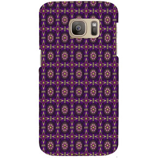 ifasho Animated Pattern design colorful flower in royal style Back Case Cover for Samsung Galaxy S7 Edge