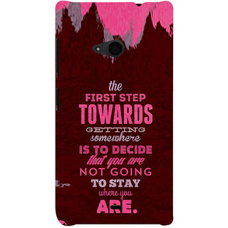 ifasho Kowledge quotes Back Case Cover for Nokia Lumia 535