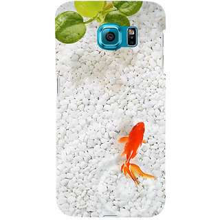 ifasho Fish in water with stone acquarium Back Case Cover for Samsung Galaxy S6