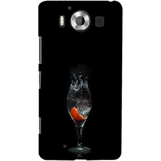 ifasho Rose in water glass with Drop of water Back Case Cover for Nokia Lumia 950