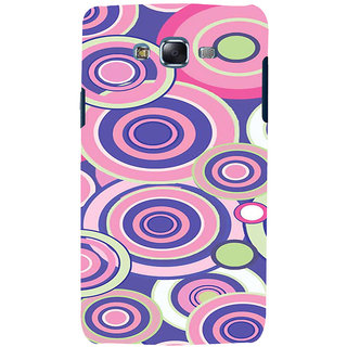 ifasho Animation Clourful Circle Pattern Back Case Cover for Samsung Galaxy J5