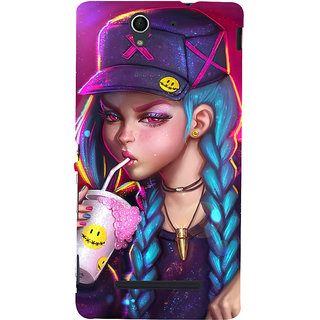 ifasho Girl drinking cold drink Back Case Cover for Sony Xperia C3 Dual