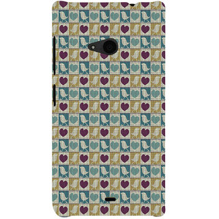ifasho Animated Pattern birds and heart small size  Back Case Cover for Nokia Lumia 535