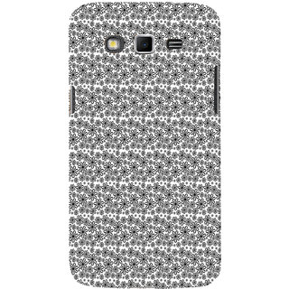 ifasho Animated Pattern black and white flower Back Case Cover for Samsung Galaxy Grand