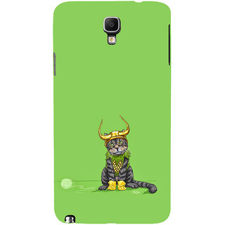 ifasho Animated Design cat with crown Back Case Cover for Samsung Galaxy Note3 Neo