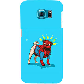 ifasho Dog wearing spiderman dress animated Back Case Cover for Samsung Galaxy S6 Edge Plus