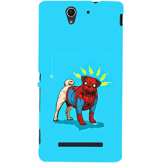 ifasho Dog wearing spiderman dress animated Back Case Cover for Sony Xperia C3 Dual