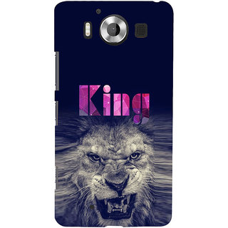 ifasho Angry Lion King Back Case Cover for Nokia Lumia 950