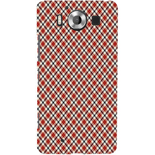 ifasho Colour Full Square Pattern Back Case Cover for Nokia Lumia 950