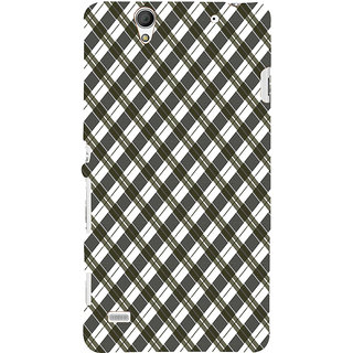 ifasho Colour Full Square Pattern Back Case Cover for Sony Xperia C4