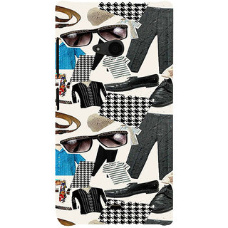 ifasho Modern Art Design Pattern man dress shoes spec belt Back Case Cover for Nokia Lumia 535