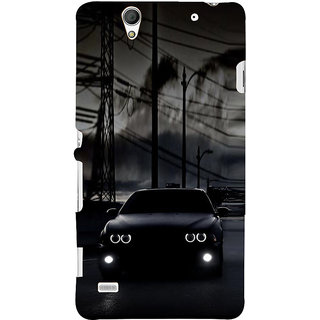 ifasho Black Car Back Case Cover for Sony Xperia C4