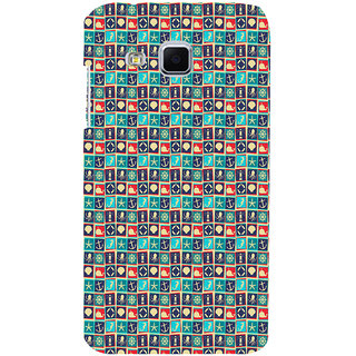 ifasho Modern Art Design Pattern with Lot Of small anchor and animal Back Case Cover for Samsung Galaxy J3