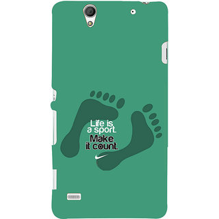 ifasho life Quotes sports quotes Back Case Cover for Sony Xperia C4