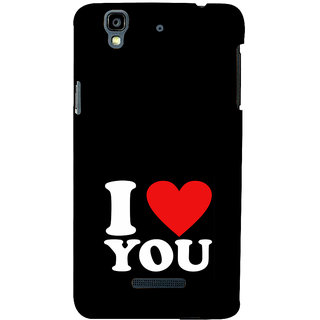 ifasho Love Quotes I love you Back Case Cover for YU Yurekha