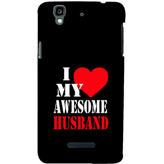 ifasho I love my husband quotes Back Case Cover for YU Yurekha