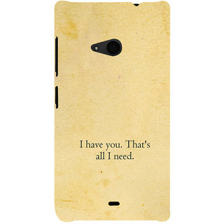 ifasho I have you thats all I need Back Case Cover for Nokia Lumia 535