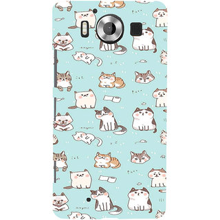 ifasho Animated Design  Many Cat Back Case Cover for Nokia Lumia 950