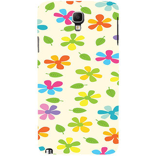 ifasho Animated Pattern flower with leaves Back Case Cover for Samsung Galaxy Note3 Neo