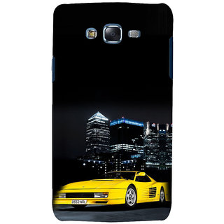 ifasho Stylish Yellow Car Back Case Cover for Samsung Galaxy J5
