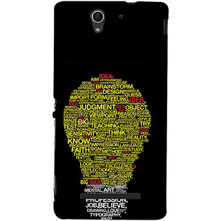 ifasho Quotes on idea animated bulb Back Case Cover for Sony Xperia C3 Dual