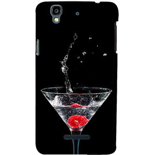 ifasho Rose in water glass with Drop of water Back Case Cover for YU Yurekha