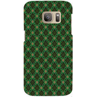 ifasho Pattern green red and black flower design Back Case Cover for Samsung Galaxy S7 Edge