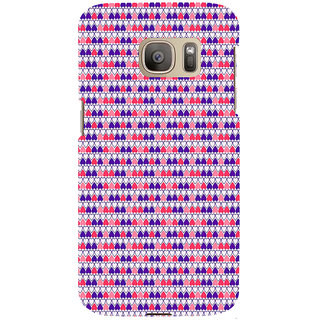 ifasho Modern Art Design Pattern with Lot Of small heart Back Case Cover for Samsung Galaxy S7 Edge