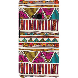 ifasho Animated Pattern colrful 3Dibal design Back Case Cover for Nokia Lumia 535