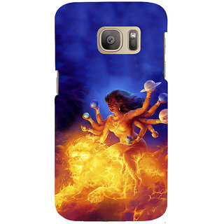 ifasho Godess Durga Back Case Cover for Samsung Galaxy S7 Edge
