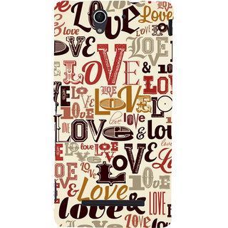 ifasho Love pattern Back Case Cover for Sony Xperia C3 Dual
