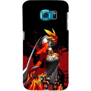 ifasho Colorful Girl animated Back Case Cover for Samsung Galaxy S6 Edge Plus
