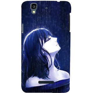 ifasho Girl in rain Back Case Cover for YU Yurekha