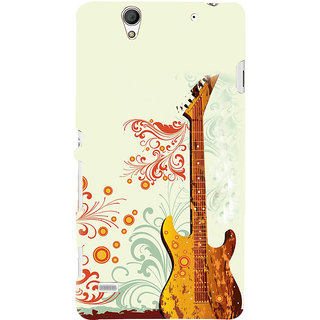 ifasho Modern Art Design Pattern Music Ins3Dument Guitar Back Case Cover for Sony Xperia C4
