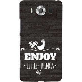 ifasho enjoy little things Back Case Cover for Nokia Lumia 950