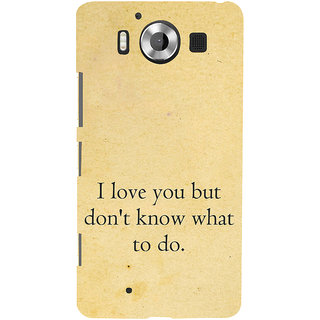 ifasho Love Quotes I love you Back Case Cover for Nokia Lumia 950