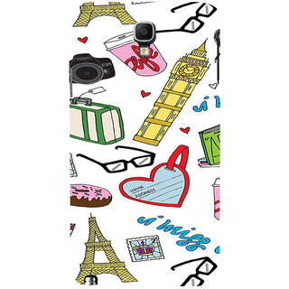 ifasho Modern Art Design Pattern camera box spec love tower Back Case Cover for Samsung Galaxy Note3 Neo