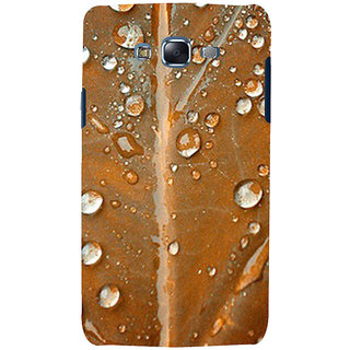 ifasho water Drop on brown leaf Back Case Cover for Samsung Galaxy J5
