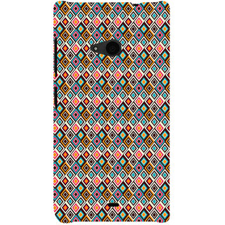 ifasho Animated Pattern design colorful in royal style Back Case Cover for Nokia Lumia 535