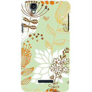 ifasho Animated Pattern painting colrful design cartoon flower with leaves Back Case Cover for YU Yurekha