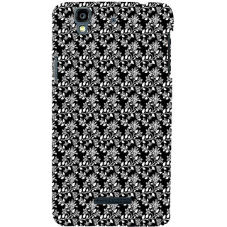 ifasho Animated Pattern design black and white flower in royal style Back Case Cover for YU Yurekha