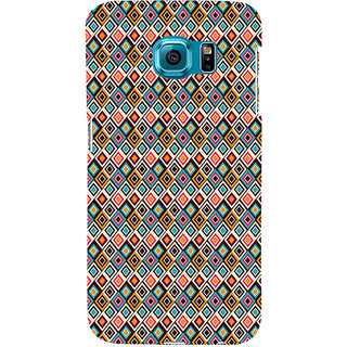 ifasho Animated Pattern colrful rajasthani design Back Case Cover for Samsung Galaxy S6 Edge Plus