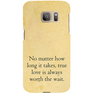 ifasho 3Due love quotes Back Case Cover for Samsung Galaxy S7 Edge