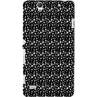 ifasho Modern Art Design animated cloth Pattern of small star Back Case Cover for Sony Xperia C4