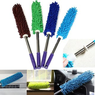 S4D round microfiber duster cloth assorted colour pack of 1 pc