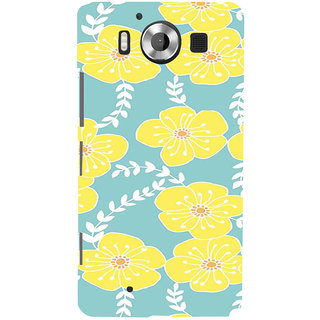 ifasho Animated Pattern flower with leaves Back Case Cover for Nokia Lumia 950