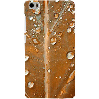 ifasho water Drop on brown leaf Back Case Cover for Redmi Mi5