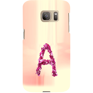 ifasho alphabet name series A Back Case Cover for Samsung Galaxy S7 Edge