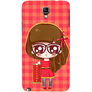ifasho Crazy Girl Back Case Cover for Samsung Galaxy Note3 Neo