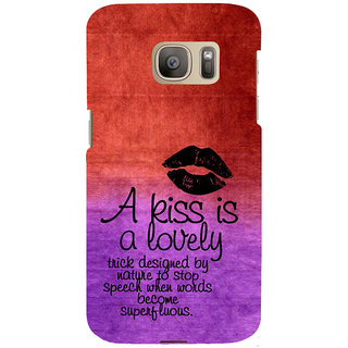ifasho Kiss Quote Back Case Cover for Samsung Galaxy S7 Edge